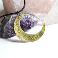 Luna Moon Necklace Mystic Moon Necklace Short Moon by LOVEnLAVISH