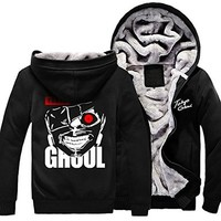 Meilaier Men's Japanese Anime Tokyo Ghoul Hoodie Zip up Coats Jackets Thicken