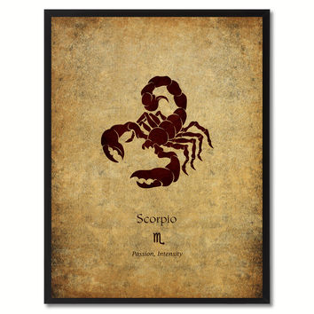 Scorpio Horoscope Astrology Canvas Print, Picture Frame Home Decor Wall Art Gift