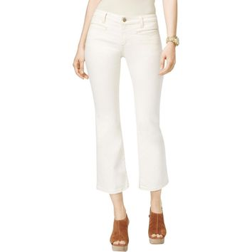 MICHAEL Michael Kors Womens Izzy Denim Cropped Flare Jeans