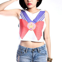 Sailor Moon Crop Top Tank Shirt Cropped Tops S M L
