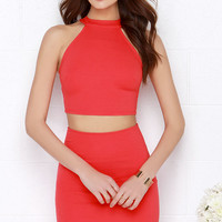 Up Two You Red Two-Piece Dress