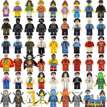 12pcs/lot Compatible legoings Model building block Military City Worker action figures toys set baby educational learning toys