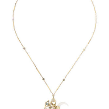 Jacquie Aiche - 14-karat gold multi-stone necklace