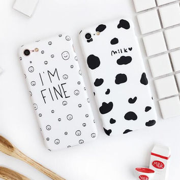 Cow lines phone case for iPhone 7 7plus 6 6S 6plus 6Splus 1109J01