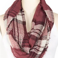 Plaid Eternity Scarf