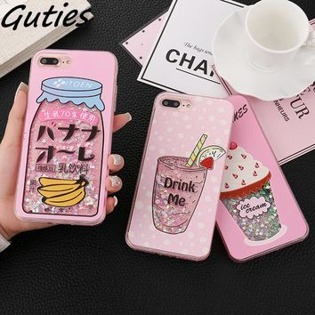 Girls Bottle Quicksand Case For iphone X Case