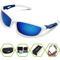 2016 New Polarized Sports Outdoor Sunglasses For Cycling Running Fishing Golf TR90 Unbreakable Frame Unisex Fashion Goggles