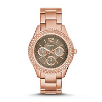Stella Multifunction Stainless Steel Watch, Rose