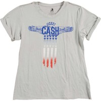 Johnny Cash  Flag Junior Top Grey