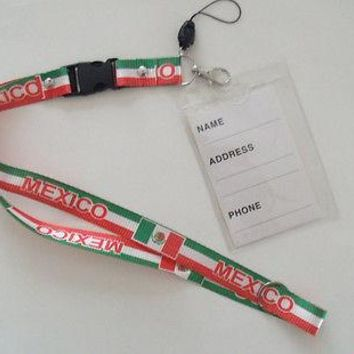 Mexico Lanyard Key Chain Brand New With Detachable Clip