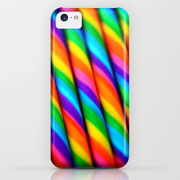 Rainbow Candy Cane iPhone & iPod Case by lilkiddies | Society6