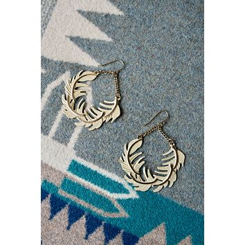 Vintage Floating Feather Earrings