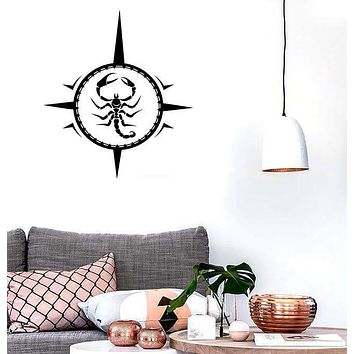 Wall Stickers Vinyl Decal Scorpio Zodiac Astrological Sign Stars Unique Gift (ig733)