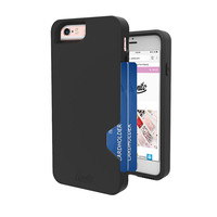Unnito CardTender Card Case for iPhone 7, iPhone 7 Black Card Case, [Dual Layer] Protective [Custom]