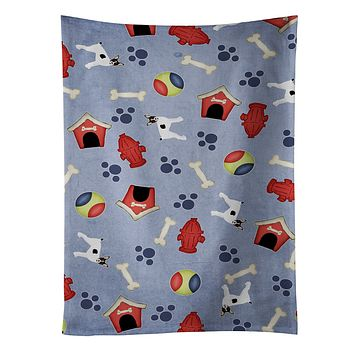 Dog House Collection Toy Fox Terrier Kitchen Towel BB4125KTWL