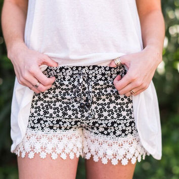 Flower Power Tassel Shorts