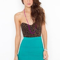 Gemma Knit Skirt - Teal in  Clothes Bottoms Skirts at Nasty Gal