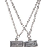 The 2 Bandits Bandit + Outlaw Necklace Set - Womens Jewelry - Silver - One