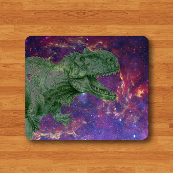 Dinosaur Galaxy T-REX Mouse Pad Tyrannosaurus Rex Realistic Drawing MousePad Dino Computer Work Pad Mat Personalized Hipster Mouse Gift