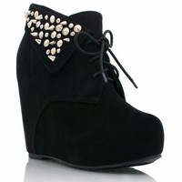 spiked-suede-wedge-booties BLACK COBALT TEAL - GoJane.com