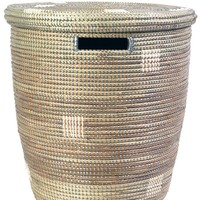 Silver & White Dot Peace Corps Clothes Hamper