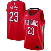 Anthony Davis New Orleans Pelicans # 23 Nike Red Swingman Statement Edition Jersey - Best Deal Online