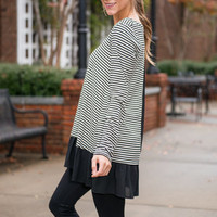 Hopeful Heart Tunic, Black