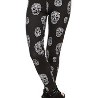 LA Hearts Skull Printed Leggings at PacSun.com