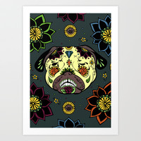 Calavera Paxicana Art Print by Huebucket