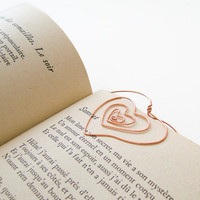 Whimsical Heart Wire Bookmark Handmade Choose by MySweetieBean
