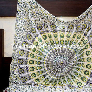 Mandala tapestries, Hippie Hippy Tapestries, Bohemian wall Hanging, Indian Tapestry, Hippie Dorm Tapestries, Wall Tapestries, Wall Hangings