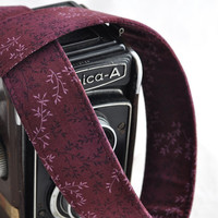 dSLR Camera Strap - Cranberry Floral - Fall Fashion, Fall Accessories for Women - Canon Camera Strap, Nikon Camera Strap