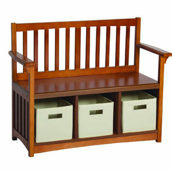 Guidecraft Mission Storage Bench&Bins - G86407