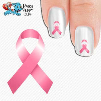 Breast Cancer Awareness Ribbon Nail Art Decals (Now! 50% more FREE)