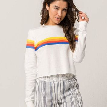 FULL TILT Horizontal Stripe Womens Sweatshirt