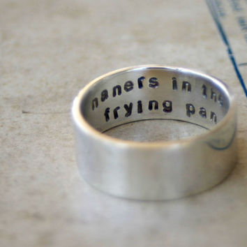 Secret Message Ring Sterling Silver by monkeysalwayslook on Etsy