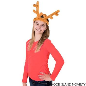 Deluxe Plush Reindeer Antlers Holiday Headband Party Favor (2 per order)