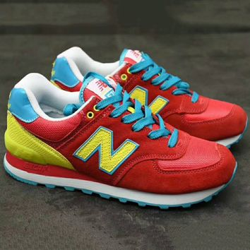 New-Balance-574 Running Sport Fashion Casual Trending Sneakers Shoes Red G-XYXY-FTQ