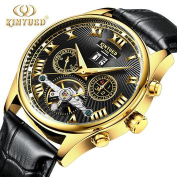 Luxury Tourbillon Skeleton Watch Men Self-winding Mechanical Watch Wrist Mechanical Watches Men Clack Fashion Casual Men Watches