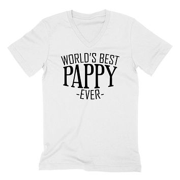 World's best pappy ever  family father's day birthday christmas  gift ideas  best grandpa  grandfather  V Neck T Shirt