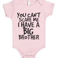 i HAVE A BIG BROTHER-Unisex Light Pink Baby Onesuit 00
