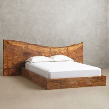 Live Edge Wood Queen Bed by Anthropologie Taupe Queen Furniture