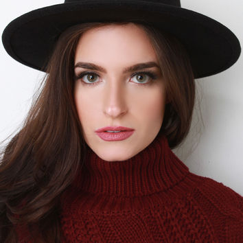 Wide Brim Wool Fedora Hat