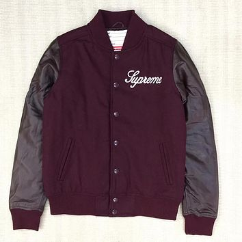 Supreme Women Men Fashion Casual Cardigan Jacket Coat
