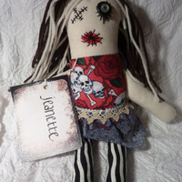 Zombie Art Doll, Rag Doll, Halloween