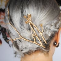 Contracted personality Fashion Metal tree branch women's hair clips