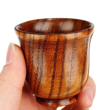 Chinese Eco friendly 80ml Wooden Cup Primitive Handmade Tea, Coffee, Wine Cup