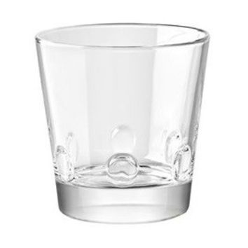 Majestic Gifts E65223-S6 Quality Glass Stackable Double Old Fashioned Tumbler 12 oz. Set of 6
