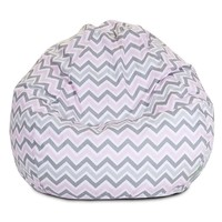 Majestic Home Goods Zoom Zoom Small Beanbag Chair (Pink)